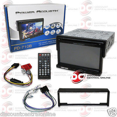 "POWER ACOUSTIK PD-710B SINGLE DIN STEREO WITH 7"" TOUCHSCREEN LCD USB & BLUETOOTH"
