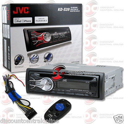 JVC KD-S39 SINGLE DIN CAR AUDIO STEREO CD MP3 RECEIVER WITH AUX & USB INPUT