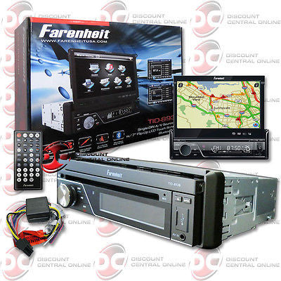 "BRAND NEW FARENHEIT 1DIN 7"" FLIP-OUT LCD MONITOR DVD CD PLAYER BLUETOOTH +REMOTE"