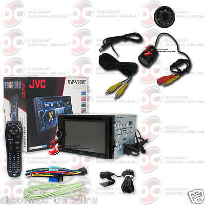 "JVC KW-V30BT CAR 2-DIN 6.1"" TOUCHSCREEN CD DVD BLUETOOTH STEREO FREE REAR CAMERA"