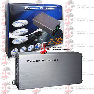 BRAND NEW POWER ACOUSTIK CLASS D MONOBLOCK SMALL AMP AMPLIFIER 1,200 WATTS MAX