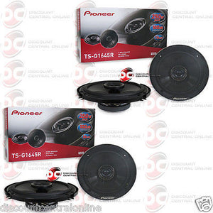 "Pioneer TS-G1645R 6.5"" 2-way Car audio coaxial speakers (2 pairs)"