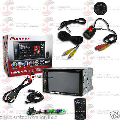 "PIONEER AVH-X3700BHS 2DIN 6.2"" TOUCHSCREEN DVD BLUETOOTH STEREO FREE REAR CAMERA"