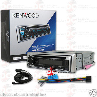 2015 KENWOOD  KMR-D562BT 1DIN MARINE AUDIO MOTORCYCLE MP3 CD PLAYER USB AUX-IN W/ BLUETOOTH