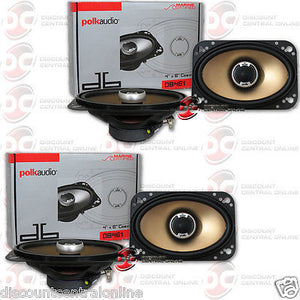 "4x Polk Audio DB461 4""x 6"" Car Audio Speakers"