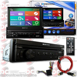 "SOUNDSTREAM VR-722HB 1DIN 7"" DVD CD PLAYER BLUETOOTH + HDM-A2 MOBILE LINK HDMI"