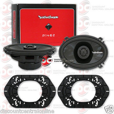 "NEW ROCKFORD FOSGATE P1462 4 x 6-INCH 4x6"" 2-WAY CAR AUDIO COAXIAL SPEAKERS PAIR"