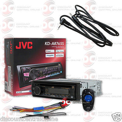 "JVC KD-AR765S 1-DIN CAR AUDIO CD MP3 AM/FM AUX USB STEREO ""FREE"" 3.5mm AUX CABLE"