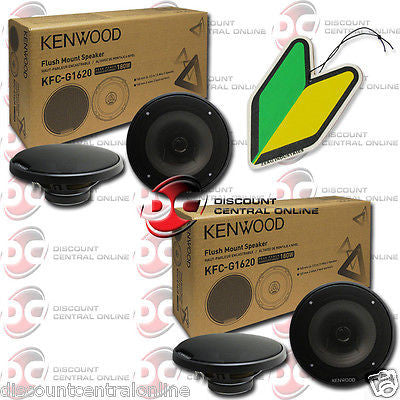 "2 x KENWOOD KFC-G1620 6.5"" 2-WAY CAR AUDIO SPEAKERS (PAIR) ""FREE"" AIR FRESHENER"