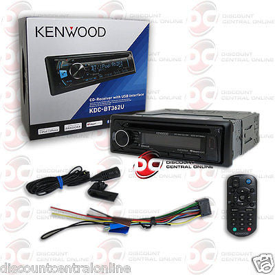 2015 KENWOOD SINGLE DIN CAR AUDIO MP3 USB AUX CD PLAYER W/ BLUETOOTH & PANDORA