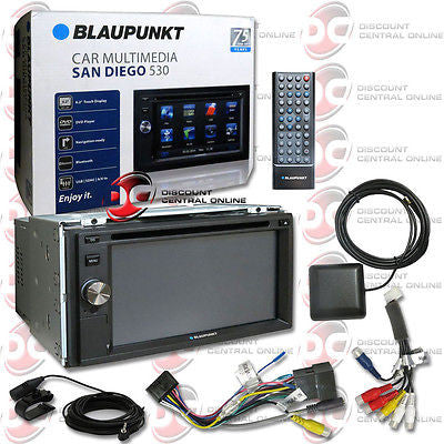"BLAUPUNKT CAR 2-DIN 6.2"" TOUCHSCREEN DVD CD MP3 SD RECEIVER BLUETOOTH NAVIGATION"