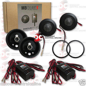 "2015 BRAND NEW MB QUART 1-INCH 1"" DISCUS SERIES CAR TWEETERS W/ CROSSOVERS PAIR"