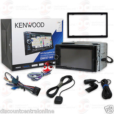 "2015 KENWOOD DNX571HD  2DIN 6.1"" NAVIGATION DVD CD PLAYER W/ BLUETOOTH XM & HD RADIO"
