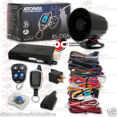AUTOPAGE RS-730A 2-WAY CAR ALARM SYSTEM 4-CHANNEL W/ REMOTE START RS730