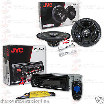 "PACKAGE DEAL JVC 1DIN IN-DASH MP3 CD STEREO + PAIR 6.5"" 2-WAY COAXIAL SPEAKERS"