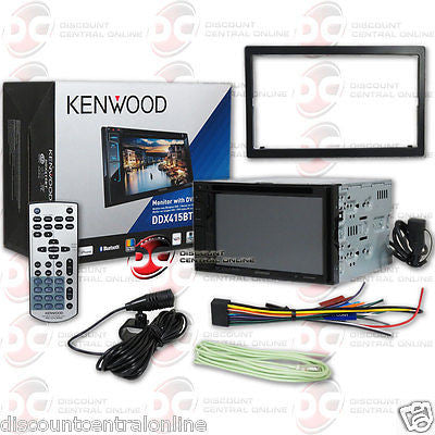"KENWOOD 2DIN DDX415BT 6.2"" TOUCHSCREEN CAR DVD CD STEREO W/ BLUETOOTH & REMOTE"