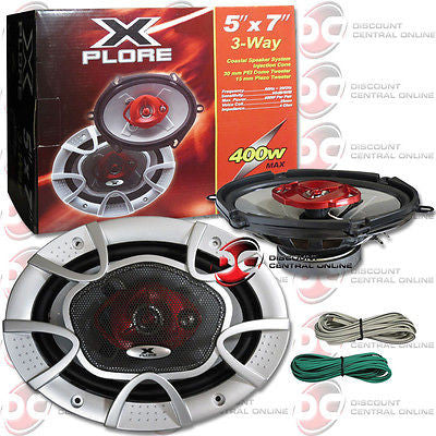 "BRAND NEW XPLORE XR-8-5X7 CAR AUDIO 5 x 7"" COAXIAL COAX 3-WAY SPEAKERS (PAIR)"