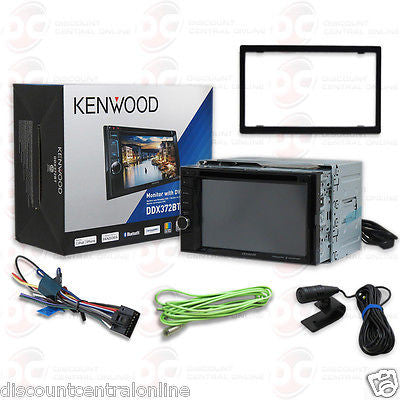 "2015 KENWOOD DOUBLE DIN 6.2"" CAR STEREO DVD CD PLAYER W/ BLUETOOTH SIRI EYES"