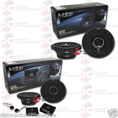 "Infinity Kappa 60.11cs 6.5"" 2-way Car Audio Component System & 62.11i 6.5"" 2-way Car Audio Coaxial Speakers"