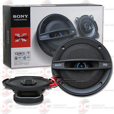 "SONY XS-GTF1027 4"" 2-WAY CAR AUDIO COAXIAL SPEAKERS (PAIR)"