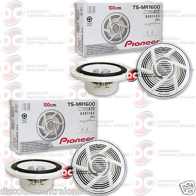 "4 x NEW PIONEER TS-MR1600 6.5"" 6-1/2 CAR BOAT MARINE AUDIO DUAL CONE SPEAKERS"