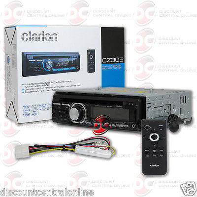 CLARION CZ305 CAR MP3 CD USB STEREO W/ IPOD IPHONE READY AUX-IN & BLUETOOTH