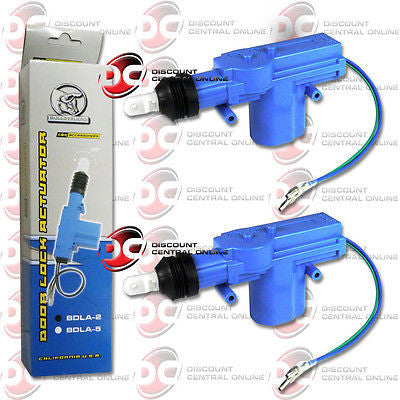 2 x BULLZ AUDIO BDLA-2 HEAVY DUTY POWER DOOR LOCK ACTUATOR MOTOR