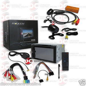 "RYDEEN DV638A 6.2"" 2DIN TOUCHSCREEN DVD BLUETOOTH STEREO ""FREE"" 170° REAR CAMERA"