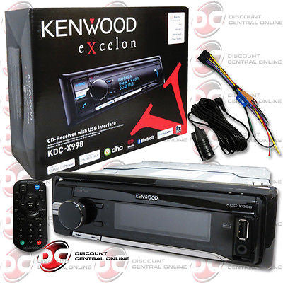 2014 KENWOOD EXCELON SINGLE DIN MP3 WMA CD PLAYER BLUETOOTH USB AUX-IN & REMOTE