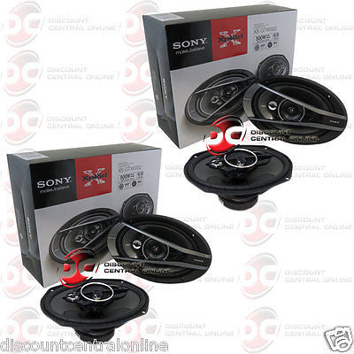 "4 x SONY XS-GTX6932 6x9"" 6x9-INCH 3-WAY CAR AUDIO COAXIAL SPEAKERS"