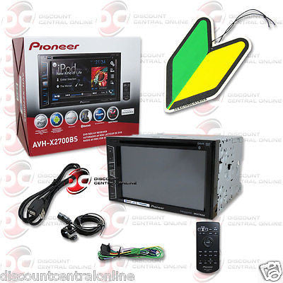 "PIONEER AVH-X2700BS 6.2"" TOUCHSCREEN CD DVD BLUETOOTH STEREO ""FREE"" AIR FRESHER"