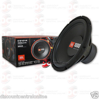 "JBL CS1214 12"" Single 4-ohm Car Audio Subwoofer"
