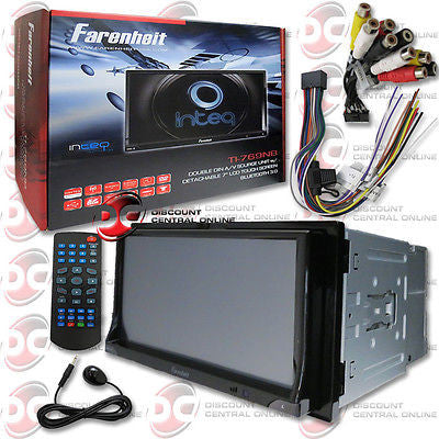 "FARENHEIT DOUBLE DIN 2DIN 7"" TOUCHSCREEN DVD CD PLAYER USB BLUETOOTH + REMOTE"