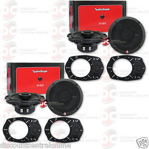 "Rockford Fosgate P152 5.25"" 2-way Car Audio Coaxial Speakers (2 pairs)"