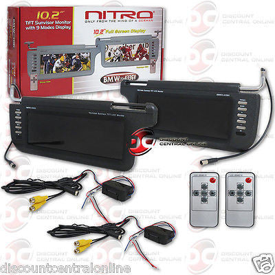 "NITRO CAR 10.2"" TFT SUNVISOR MONITOR NTSC/ PAL WITH 9 MODES DISPLAY (BLACK)"