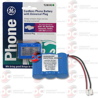 GENERAL ELECTRIC TL96145 CORDLESS PHONE BATTERY W/ UNIVERSAL PLUG GETL96145