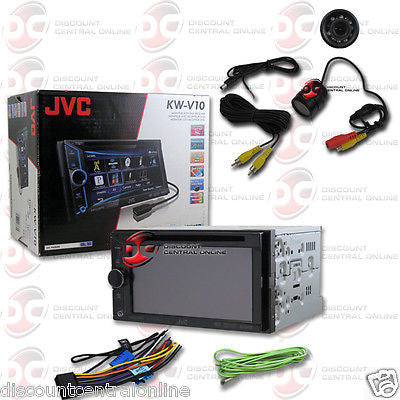 "JVC KW-V10 CAR 6.1"" 2-DIN CD DVD STEREO W/ PANDORA ""FREE"" REARVIEW CAMERA"
