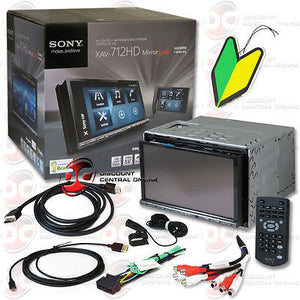 "SONY 2DIN 7"" DVD CD RECEIVER BLUETOOTH HD RADIO MIRROR LINK ""FREE"" AIR FRESHENER"