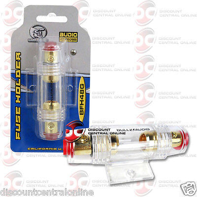 XSCORPION BFH48G 4/ 8 GAUGE IN/ OUT IN LINE GOLD FUSE HOLDER