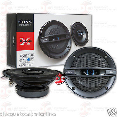 "BRAND NEW SONY 5.25-INCH 5-1/4"" 3-WAY CAR AUDIO COAXIAL SPEAKERS (PAIR)"