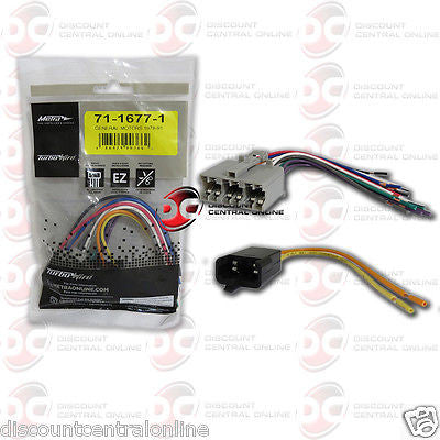 METRA 71-1677-1 REVERSE WIRING HARNESS FOR SELECT 1978-1990 GM VEHICLES