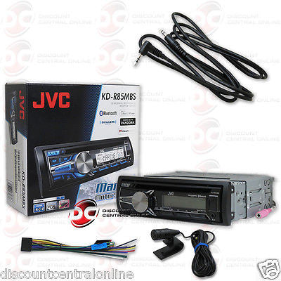 "JVC KD-R85MBS CAR BOAT CD MP3 MARINE STEREO W/ BLUETOOTH ""FREE"" 3.5mm AUX CABLE"