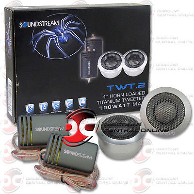SOUNDSTREAM TWT.2 1-INCH TITANIUM CAR AUDIO TWEETERS (PAIR)