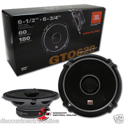 "JBL GTO628 6.5""/ 6.75""  2-WAY CAR AUDIO COAXIAL SPEAKERS (PAIR) GTO 628"
