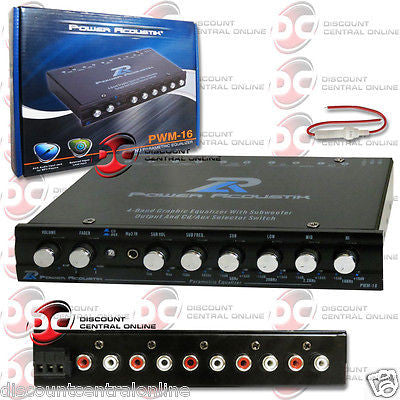 2014 POWER ACOUSTIK 4-BAND EQ EQUALIZER BUILT-IN PRE AMP + SUBWOOFER CONTROL