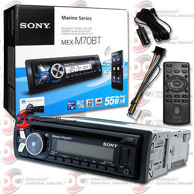 2014 SONY 1DIN MARINE BOAT MP3 CD PLAYER BLUETOOTH IPHONE AUX-IN USB INPUT NFC