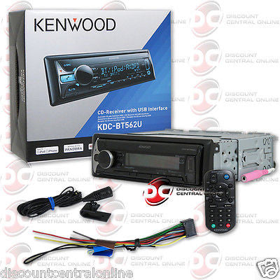 KENWOOD KDC-BT562U 1DIN CAR AUDIO MP3 CD PLAYER W/ BLUETOOTH & PANDORA CONTROL