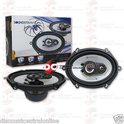 "BRAND NEW SOUNDSTREAM 5"" x 7"" 3-WAY CAR AUDIO COAXIAL SPEAKERS (PAIR)"