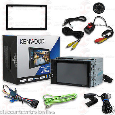 "KENWOOD DDX372BT 6.2"" TOUCHSCREEN CAR DVD BLUETOOTH STEREO FREE REARVIEW CAMERA"
