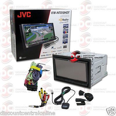 "BRAND NEW JVC 2DIN 7"" NAVIGATION GPS DVD HD RADIO CD PLAYER BLUETOOTH USB AUX-IN"